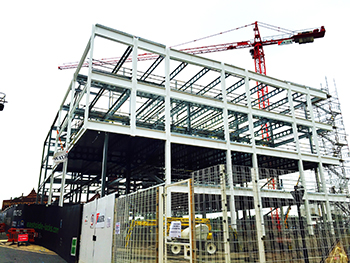 Building under construction at City Centre Campus