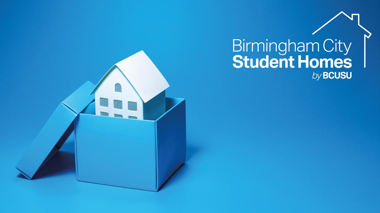 BCUSU Student Homes Logo that reads - Birmingham City Student Homes by BCUSU