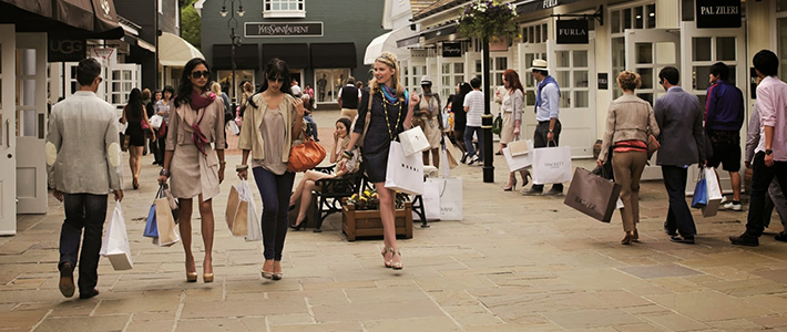 Students shopping in Bicester
