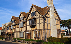 Shakespeare's birthplace in Stratford