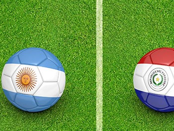 footballs in national flag colours